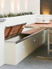 Patio bench storage | Exteriors | Pinterest