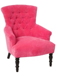 bright pink velvety chair | PINK | Pinterest