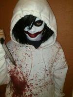Jeff Killer Costume Makeup