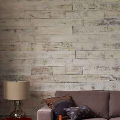 Wallpaper that looks like wood paneling! | Room Re-do | Pinterest