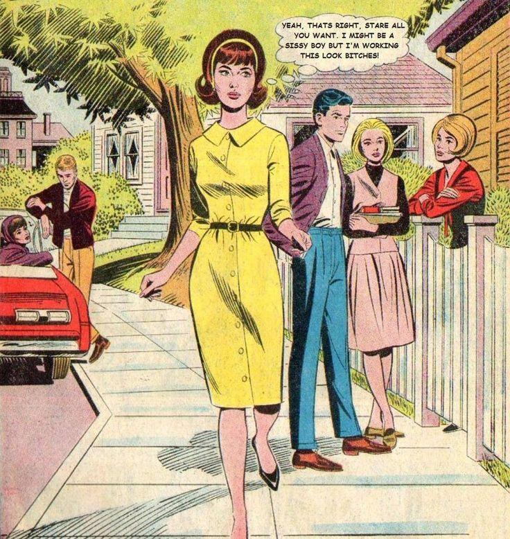 Pinterest Crossdressing Cartoon