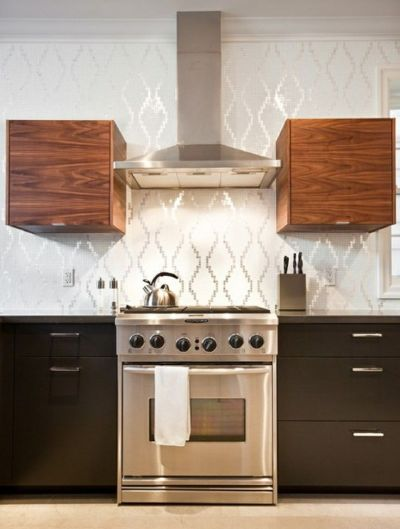 Wallpaper backsplash | KITCHENS | Pinterest