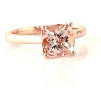 Rose Gold Rings: Morganite Rose Gold Rings