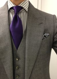 grey suit purple tie | Purple Wedding ideas! | Pinterest