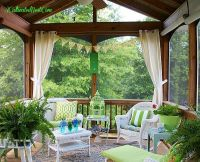 screened porch decorating ideas | Outdoor Spaces | Pinterest