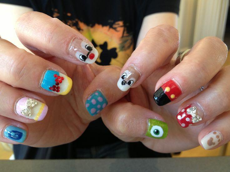 Disney characters nail!