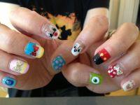 Disney characters nail! | Nails | Pinterest
