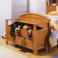 Kids storage bench | For the Home | Pinterest