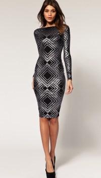 ASOS - black + silver dress | Clothes/shoes | Pinterest
