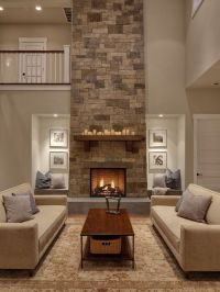 Tall fireplace | My Obsession | Pinterest