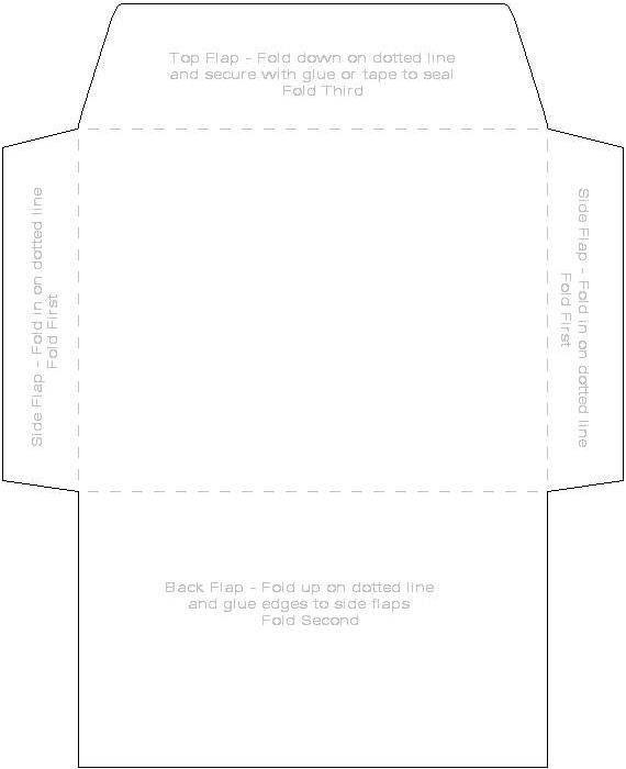 Printable 45quot X 6quot Envelope Template Paper Pinterest