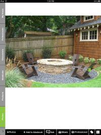 Fire pit | Backyard Ideas | Pinterest