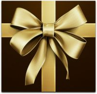 Brown Gift Wrap with Gold Bow... | Luv Gift Giving | Pinterest