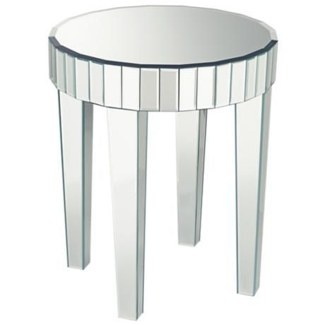 Candice Mirrored Round End Table