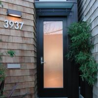 modern front door - frosted glass | I FEEL AT HOME | Pinterest