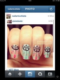 Native American design nail art | Ginny-Nails | Pinterest