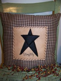 Primitive pillows--make these felt | Country Corner ...