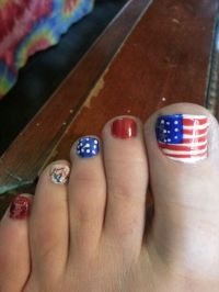 Fourth of July Toenail art | Beautiful Toenails | Pinterest