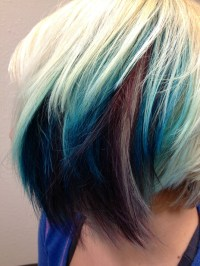Peekaboo teal purple hair color | Hair | Pinterest