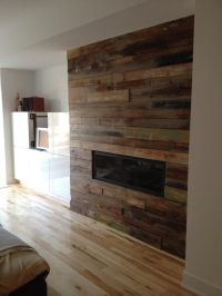 Custom reclaimed wood fireplace. ... | For the Home ...
