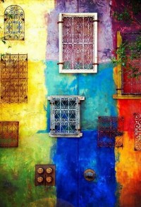 multi colored wall | Alquemy's Colors | Pinterest
