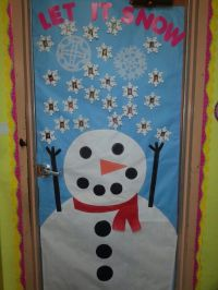 Snow Classroom Door Decorations