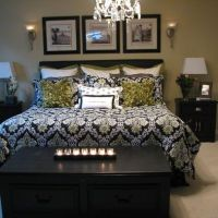 master bedroom black and white green | HOME DECOR | Pinterest
