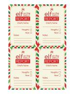 Free Printable Elf The Shelf Report