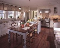 Attached island and dining table | For the Home | Pinterest