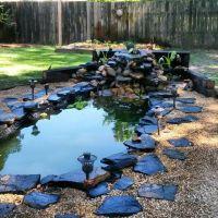 DIY Koi pond and waterfall | Koi ponds | Pinterest