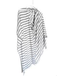 Gray Striped Nursing Cover-Full Coverage-Poncho-Modern ...