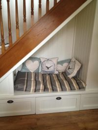 Dog bed under the stairs! | Dog beds | Pinterest