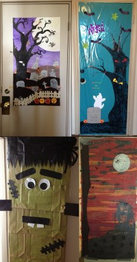 Halloween Door Decorating Ideas Office Image