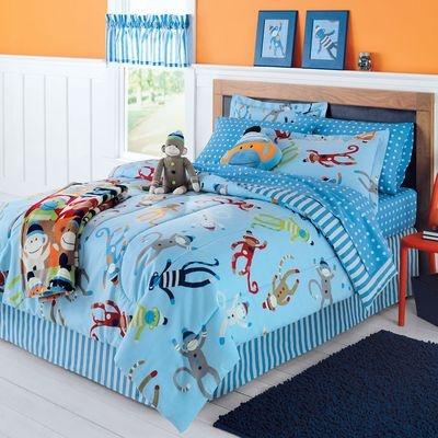 Sock MONKEY Twin Bedding Set