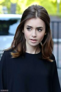 Lily Collins hair color | hair | Pinterest