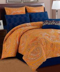 Orange Paisley Shanti Comforter Set