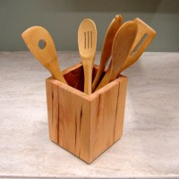 Wooden+Kitchen+Utensil+Holder | kitchen ideas | Pinterest