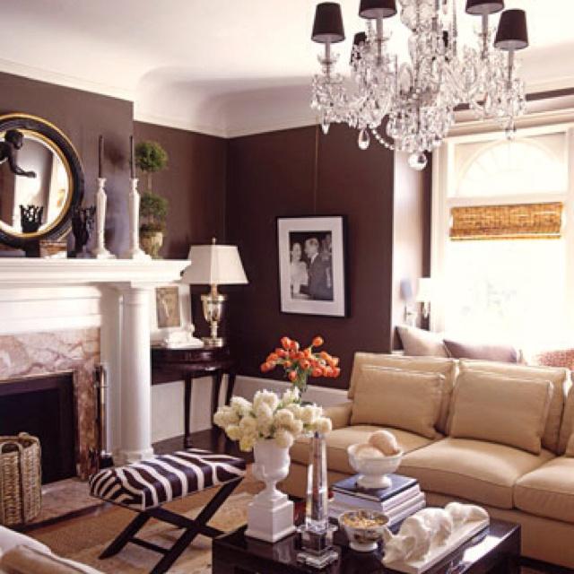 Chocolate Brown Living Room