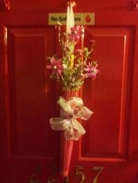 Pink Umbrella door decor   Created it!!!   Pinterest