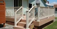 patio deck railing | Lovely Vinyl Porch and Deck Railing ...