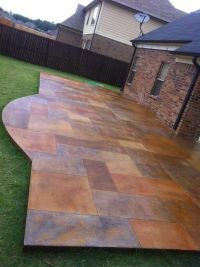 Stained Concrete Patio by ButterflyJ