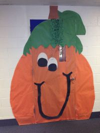 Pumpkin fall door decorations | Classroom door decor ...