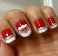 Christmas nail art gel nails   Makeup Tips   Pinterest