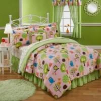 Girls Teen Queen Size NATURE HOOT OWL Comforter Bed Set ...