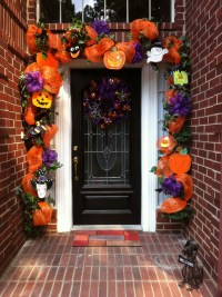 Colorful Halloween Front Door. | Halloween | Pinterest