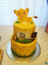 Lion King Baby shower Cake | cakes | Pinterest