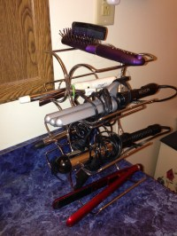 Flat Iron/ Curling iron storage-- other uses for a Wine ...