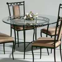 Wrought Iron Round Dining Table | kitchen table and chairs ...