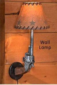 gun wall lamp   Cowgirl Home Decor   Pinterest