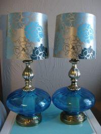 Blue Glass Antique Lamps | FOR BEV | Pinterest
